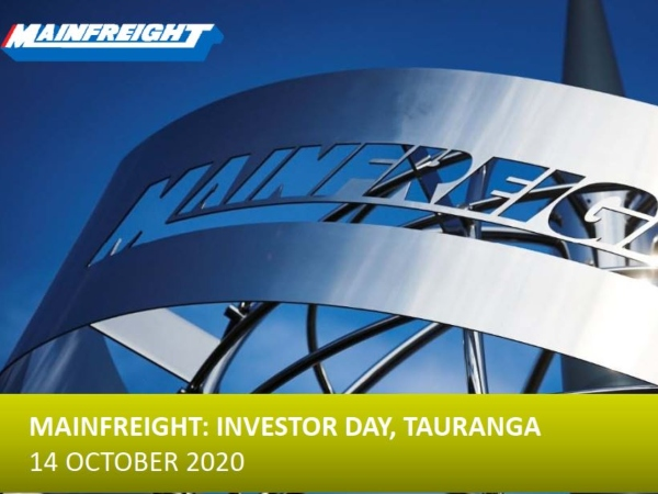 Investor Update - Investor Day 14 Oct 2020